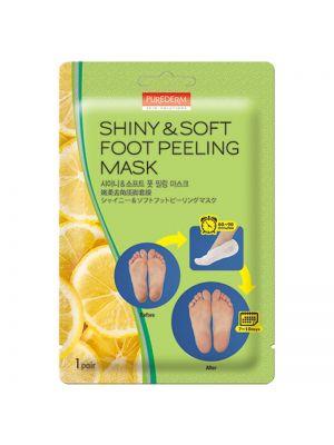 [PUREDERM] Shiny & Soft Foot Peeling Mask 1 pair