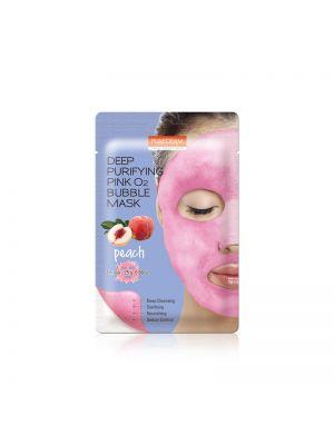 [PUREDERM] Deep Purifying Pink O2 Bubble Mask Peach 25g * 1pcs