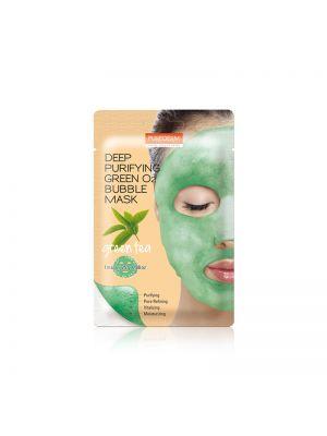 [PUREDERM] Deep Purifying O2 Bubble Mask Green Tea 25g * 1pcs